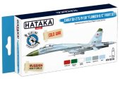 Hataka 6 x 17ml BS104 Acrylic Paint Set - Early Su-27S/P/UB Flanker-B/C