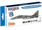 Hataka 6 x 17ml BS105 Acrylic Paint Set - MiG-29A/UB 4-colour scheme (for hand brushing)