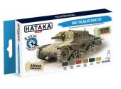 Hataka 6 x 17ml BS106 Acrylic Paint Set - WW2 Italian AFV  (for hand brushing)