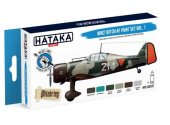 Hataka 6 x 17ml BS107 Acrylic Paint Set - WW2 Dutch AF Vol 1 (for hand brushing)