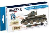Hataka 6 x 17ml BS22 Acrylic Paint Set - British AFV WW2 European colours (for hand brushing)