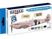 Hataka 6 x 17ml BS23 Acrylic Paint Set - RAF Photo Recon Units (for hand brushing)