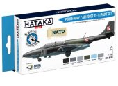 Hataka 6 x 17ml BS46 Acrylic Paint Set - Polish Navy / Air Force TS-11 (for hand brushing)