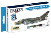 Hataka 6 x 17ml BS47 Acrylic Paint Set - Polish Air Force Su-22M4 (for hand brushing)