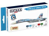 Hataka 6 x 17ml BS83 Acrylic Paint Set - Ultimate Su-33 Flanker-D (for hand brushing)