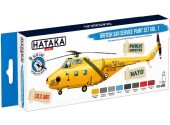 Hataka 8 x 17ml BS98 Acrylic Paint Set -British SAR Service vol. 1 (for hand brushing)