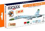 Hataka 6 x 17ml CS104 Lacquer Paint Set - Early Su-27S/P/UB Flanker-B/C