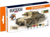 Hataka 6 x 17ml CS106 Lacquer Paint Set - WW2 Italian AFV