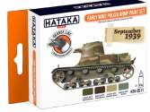 Hataka 4 x 17ml CS11 Lacquer Paint Set - Early WW2 Polish Army
