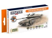 Hataka 6 x 17ml CS114 Lacquer Paint Set - Israeli Defence Forces AFV