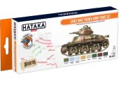 Hataka 8 x 17ml CS21 Lacquer Paint Set - Early WW2 French Army