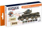 Hataka 6 x 17ml CS22 Lacquer Paint Set - British AFV WWII European colours