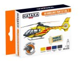Hataka 4 x 17ml CS79 Lacquer Paint Set - Air Ambulance Set 2