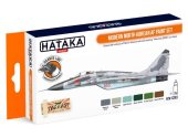 Hataka 6 x 17ml CS93 Lacquer Paint Set - Modern North Korean AF