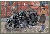 IBG 1/35 35001 BMW R12 with sidecar Civilian - 3 in 1