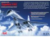 "ICM 1/144 14401 Tu-144 ""Charger"", Soviet Supersonic Passenger Aircraft"