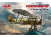ICM 1/32 32040 Gloster Gladiator Mk.I, WWII British Fighter