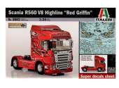Italeri 1/24 3882 Scania R560 V8 Highline Red Griffon