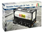 Italeri 1/24 3929 Tecnokar Trailer with 20ft Tank