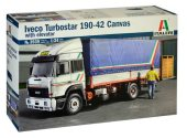 Italeri 1/24 3939 Iveco Turbostar 190-42 Canvas Truck with Elevator