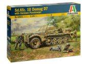 Italeri 1/35 6561 Sd.Kfz.10 Demag D7 w/ German Paratroops