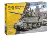 Italeri 1/35 6568 M4A1 Sherman with U.S Infantry