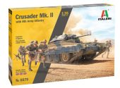 Italeri 1/35 6579 Crusader MKII w/ 8th Army Figures