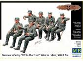 Master Box 1/35 35137 German Infantry - Off to the Front-  Vehicle Riders