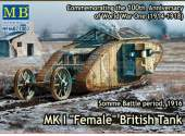 Master Box 1/72 72002 MK I Female British Tank Somme Battle 1916