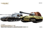 Model Collect 1/72 72332 German WWII E-100 Waffentrager and Jagdpanzer E-100