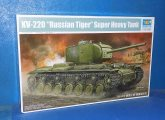 Trumpeter 1/35 05553 KV-220 Russian Tiger Super Heavy Tank Date: 00's