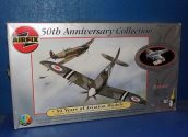 Airfix 1/48 91002 50th Anniversary Set - Spitfire F22/24 and 1/72 BTK - No Paints Date: 00's