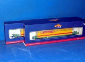 Bachmann 00 37-305A 2x Intermodal Bogie Wagons with 45ft DHL Containers Date: 00's