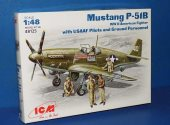 ICM 1/48 48125 P-51B Mustang w/ Figures Date: 00's