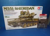 Tamiya 1/35 35365 M551 Sheridan Vietnam War  w/ Detail Up Set Date: 00's