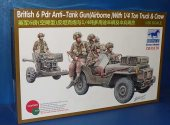 Bronco 1/35 35170 British 6Pdr Ant Tank Gun w/ 1/4 Ton and Crew Date: 00's