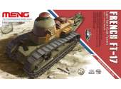 Meng Model 1/35 TS-008 French FT-17 Light Tank (Cast Turret)