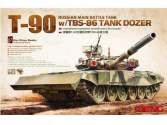 Meng Model 1/35 Russian MBT T-90 with TBS-86 Tank Dozer TS-014