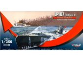 Mirage Hobby 1/350 350503 German Submarine U-107 (IXB Turm I)