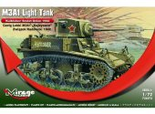 Mirage Hobby 1/72 726074 M3A1 Light Tank Soviet Union 1942