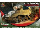 Mirage Hobby 1/72 726086 US Light Tank M5A1 (Mid) Normandy 1944
