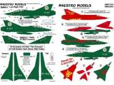Maestro Models 1/72 D7205 Danish SAAB 35 Draken, four colourful a/c incl. one two-seater.