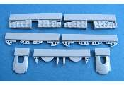 Pavla 1/72 U72158 Blenheim Mk.I main u/c Wheel Bays details for Airfix Model