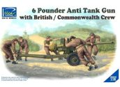 Riich Models 1/35 35044 6 Pounder Anti Tank Gun with British Commonwealth Crew