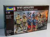 Revell 1/35 2451 WWI INFANTRY German / British / French (1914)