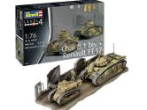 Revell 1/76 3278 Char. B.1 bis and Renault FT.17