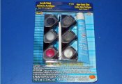 Revell - 853836 Acrylic Paint Set (6)) w/ Glue and Brush