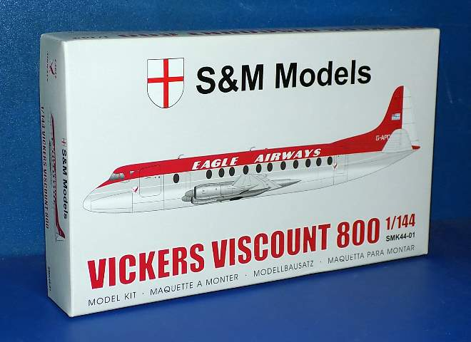 S&M Models 1/144 44-01 Vickers Viscount 800