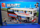 Sluban 36cm B0335 Double Decker Bus 741pcs - Compatible Bricks