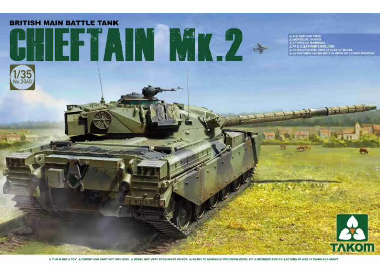Takom 1/35 2040 Chieftain Mk. 2 British Main Battle Tank